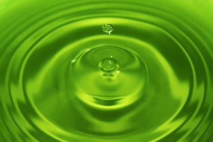 Groene waterdruppel