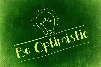 gloeilampje met daaronder: Be Optimistic
